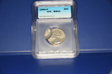 1995-P Washington Quarter ICG-MS64 double struck error 2nd o/c wow!