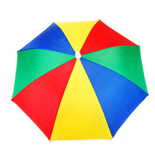 Multi Color Novelty Umbrella Hat Brolly for Golf Fishing Hunting Head Cap