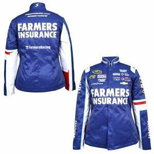Kasey Kahne Nascar #5 2013 Farmers Insurance Uniform Replica Jacket Ladies Large