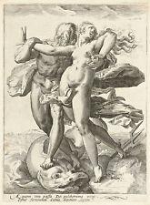 Neptune and Caenis by Hendrick Goltzius 75cm x 55.3cm Canvas Print