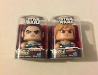 Mighty Muggs Star Wars Luke Skywalker Rey Action Figure Toy Gift Lot of 2