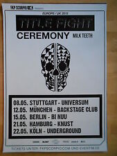 TITLE FIGHT-CEREMONY 2015 TOUR  -  orig.Concert-Konzert-Poster-Plakat DIN A1