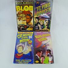 4 VHS The Blob Mars Needs Women Cat Women of The Moon The Flying Saucer Sealed