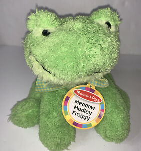 NWT Melissa & Doug Meadow Medley Froggy Plush Green Sounds