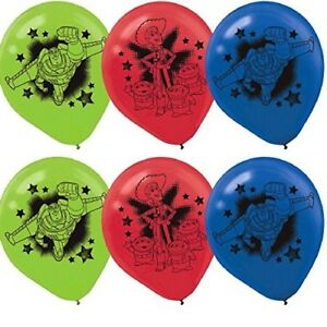 """(6ct) Disney Toy Story Birthday 12"""" Latex Balloons Party Supplies"""