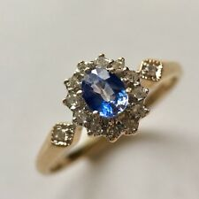 9ct Gold Sapphire And Diamond Ring Size R1/2