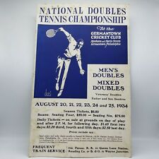 Germantown Cricket Club 1934 Poster National Tennis Championship by James McKell