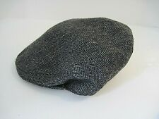 Vintage 80s Lawrence & Foster Tweed Cabbie Newsboy Hat Yorkshire England 7 1/4