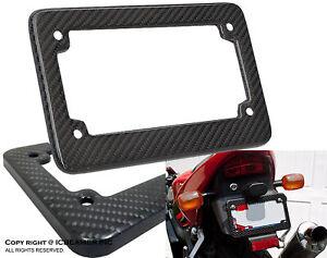 """JDM MOTORCYCLE License Plate Frame 4""""x7"""" Weather proof frame Carbon Fiber K11"""