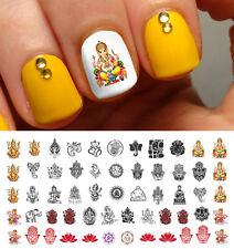 Ganesha Girl Hindu Meditation Indian Nail Art Waterslide Decals - Salon Quality!