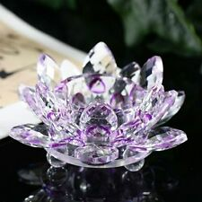 Flower Feng Shui Table Decoration 80mm Party Crafts Flower Glass Crystal Lotus
