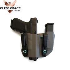 Fits Springfield HELLCAT 9MM Concealment Gun Mag Holster Combo Custom Blue Gray