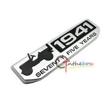 (1) 75 Year 1941 Anniversary Metal Emblem Badge for Jeep Wrangler CHEROKEE