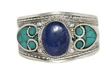 Lapis Bracelet Turquoise Bracelet Cuff Bracelet Silver Bracelet Tribal Boho