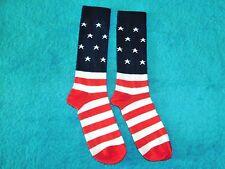 USA American Flag Crew Socks 1 Pair SZ 9-11 Fit Shoe Size 4-10 Patriotic Holiday