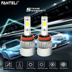 H11 H9 H8 CREE LED 1510W 226500LM Car Headlight 6000K Lamp Globe Bulb White Pair