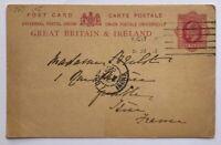 Ganzsache Großbritannien 1888 siehe Bild