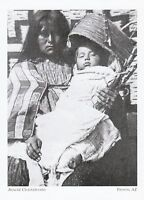 "*Arizona Postcard-""Apache Woman & Baby In Cradleboard"" *Payson- (A325)"