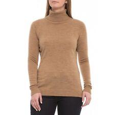 Ladies Camel Brown Turtleneck Sweater - A New Day Medium