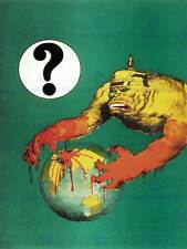 WAR PROPAGANDA FIRST WORLD ANTI GERMAN BLOOD BEAST AUSTRALIAAD POSTER ART 2656PY