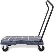 Pake Handling Tools - Fold Down Plastic Triple Trolley, 400 lbs Capacity