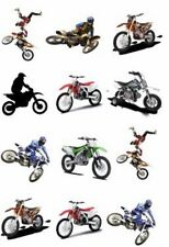 🏍 MX Motocross Bike Temporary TATTOO Sheet. Party Supplies Lolly Loot Bag Deco