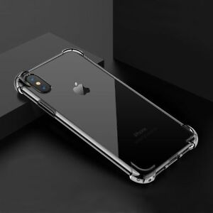 Hybrid Shockproof Clear TPU Hard Bumper Case For iPhone X 7 8 Plus XR XS MAX