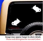 2 Chinchilla Rodent Sticky Pet Vinyl Car Decal Sticker