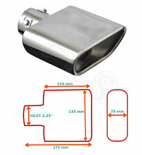 """UNIVERSAL STAINLESS STEEL EXHAUST TAILPIPE 2.25"""" INLET YFX-0267  DAI"""