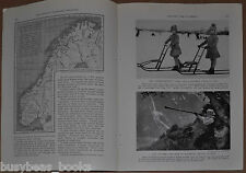 1939 magazine articles about COUNTRY LIFE IN NORWAY, people history color photos