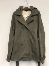 LEE Women's Jacket  Long Sleeve Coat Hooded Outerwear Gray Size M New