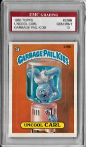 Uncool Carl EMC Graded 1986 Garbage Pail Kids Sticker Card 228B Gem Mint 10