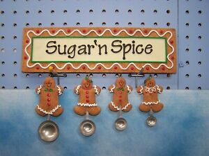 Kitchen Wall Plaque Sugar and Spice Gingerbread  Measuring Spoons