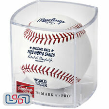 2020 World Series Official MLB Rawlings On Field Leather Baseball  - Cubed