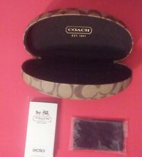 COACH HARD CASE SUNGLASSES SIGNATURE DESIGN EYEGLASSES CLEANING CLOTH TAN BROWN