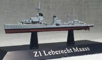 New 1/1250 Scale German Navy Z1 Leberecht Maass Destroyer Display 3D Alloy Model