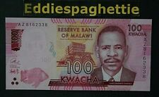 Malawi 100 Kwacha 1-1-2016 UNC P-65b