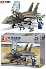 Sluban Fighter Jet Aircraft Army Bricks Blocks Model Army Toy Plane Set B7200