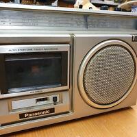 Panasonic Radio Cassette Player Vintage Panasonic RX-1460L Silver Working Retro