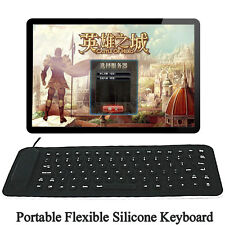 Slim Foldable USB 2.0 Mini Flexible Silicone Keyboard Keypad for Laptop Notebook