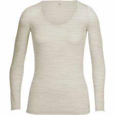 *NEW* ICEBREAKER BodyFit 150 Siren LS Sweetheart Wool BASELAYER SHIRT / Beige S