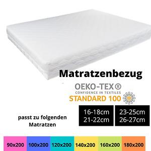 Matratzenbezug 90x200 100x200 140x200 160x200 180x200cm Matratzenschoner