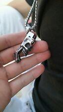 Punk Skull Antique Head Biker Keychain Pendant Bottle Opener Necklace Men Gift