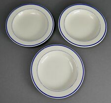 "Antique Wedgwood Miniature Childs Creamware Blue Line Set of 3 of 3 3/4"" Plates"