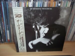 THE WATERBOYS This is the sea JAPANESE 1985 POLYSTAR original LP with OBI+INSERT