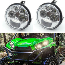 1 Pair LED Headlight Assembly Plug & Play For Kawasaki Teryx Brute Force 750