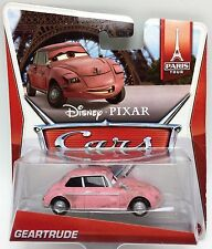"DISNEY CARS 2 GEARTRUDE ""PARIS TOUR"" SERIES NEW IN PACKAGE 1:55 SCALE  VHTF!!!"