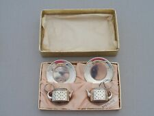 More details for vintage sterling silver pair tea pot shaped infusers spitzer & fuhrmann curacao