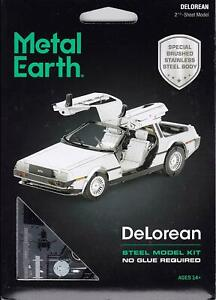 Metal Earth DeLorean 3D Laser Cut Steel Model Kit Back to the Future Official UK