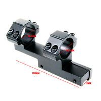 """25.4mm/1"""" Ring 11mm Rail Mount For Rifle Scope Laser Sight Hunting One Piece"""